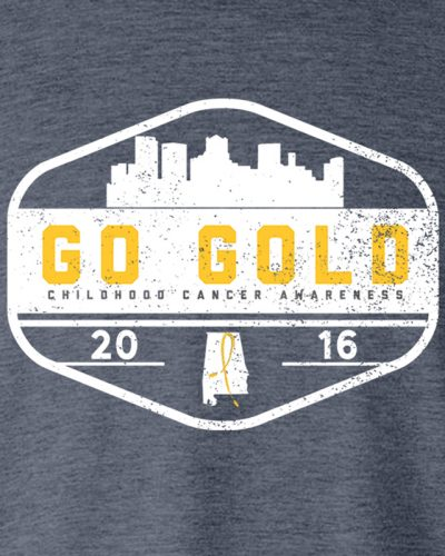 GO GOLD! Adult - Heather Navy